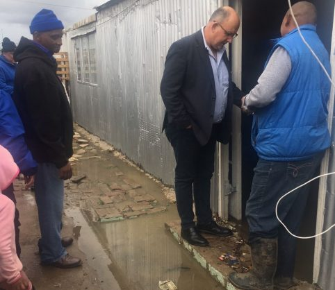 Former Nelson Mandela Bay mayor Athol Trollip on door to door visits in Missionvale in Port Elizabeth's northern areas, 3 September 2018. Picture: ANA