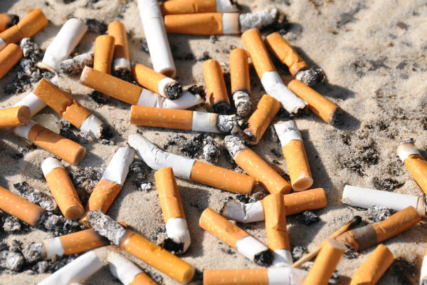 Cigarette butt pollution far worse than plastic straws
