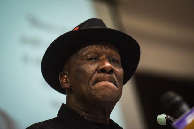 Police Minister Bheki Cele, 17 August 2018, Unisa Campus, Pretoria. Picture: Jacques Nelles