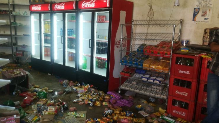 Spaza shops were looted in parts of Soweto last month. Picture: Nigel Sibanda