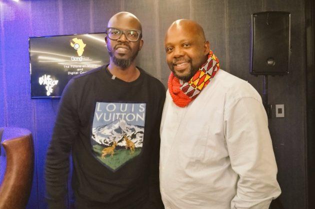 Kaya FM station manager Greg Maloka (right) with DJ Black Coffee. Image: Twitter/@GregMaloka