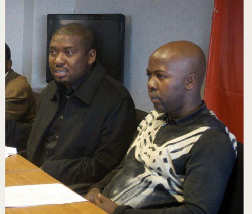 Spokesperson of Cosatu Sizwe Pamla, left. Picture by Nontokozo Nkabinde.