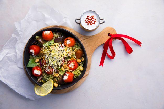 Quinoa and pesto salad. Picture: Supplied