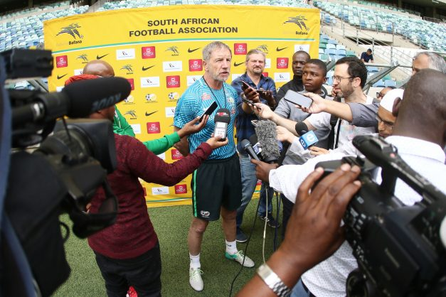 Head Coach Stuart Baxter during the South African national mens soccer team training session at Moses Mabhida Stadium in Durban, South Africa. (Photo by Anesh Debiky/Gallo Images)