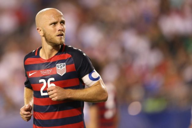 American midfielder Michael Bradley (pictured July 2017) says the players are looking forward, not back. GETTY IMAGES NORTH AMERICA/AFP/File/Patrick Smith