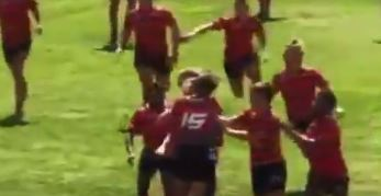 WATCH: Shocking scenes as rugby juniors throw punches and head butts