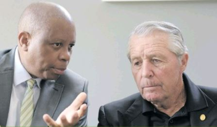 Joburg mayor Herman Mashaba and Gary Player at the SA Open announcement. Photo: Tracy-Lee Stark.