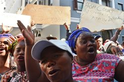 Hundreds of Kraaifontein residents protest eviction outside Western Cape High Court