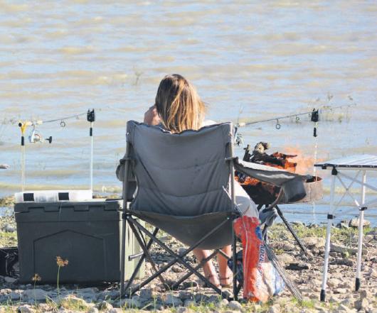 Lazy Sundays: Fishing on the banks of the Darlington Dam.