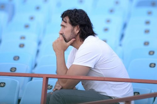 Former Springbok player Victor Matfield during the South African national mens rugby team training session and fan engagement at Loftus Versfeld Stadium on October 01, 2018 in Pretoria, South Africa. (Photo by Lefty Shivambu/Gallo Images)