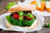 Recipe: Meat-free burgers, hummus