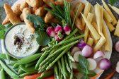 Recipe: Veggie platter with vegan prawns