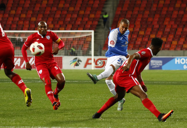 Ruzaigh Gamildien of Chippa United during the Absa Premiership match between Chippa United and Free State Stars at Nelson Mandela Bay Stadium on October 03, 2018 in Port Elizabeth, South Africa. (Photo by Michael Sheehan/Gallo Images)