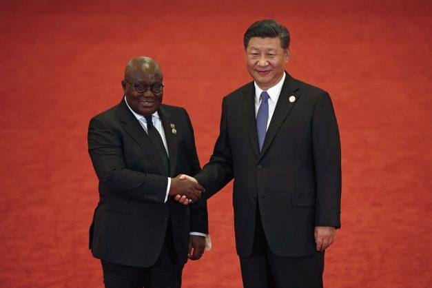 Ghana's President Nana Akufo-Addo and China's President Xi Jinping at the 2018 summit in Beijing. EPA-EFE/Andy Wong (Pool)