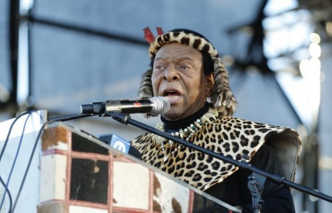 King Goodwill Zwelithini addresses thousands of his subjects at an imbizo in Ulundi, 4 July 2018. The king called the imbizo to address the issue of communal land held under the Ingonyama Trust. Picture: ANA
