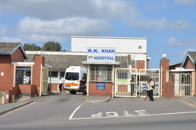 The entrance to the RK Khan Hospital, situated in Chatsworth. FILE PHOTO.
