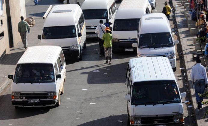 A taxi rank. Picture: Nigel Sibanda.