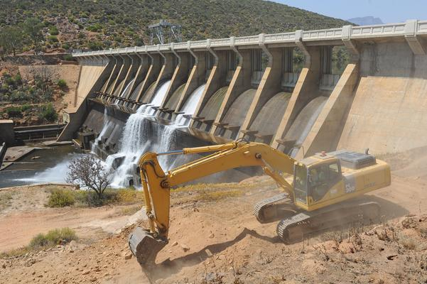 The Clanwilliam Dam wall construction site. Picture: Henk Kruger/ANA