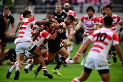 Second-string All Blacks crush Japan