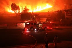 Nine dead in California wildfires, tens of thousands forced to flee
