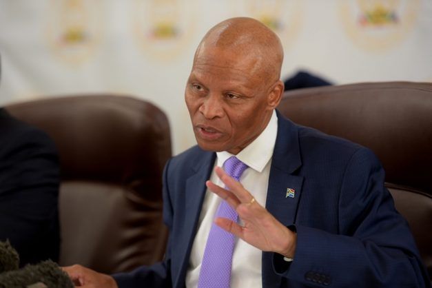 Chief Justice Mogoeng Mogoeng speaks at a press briefing after he presented the judiciary annual performance report, 23 November 2018. Picture: Tracy Lee Stark
