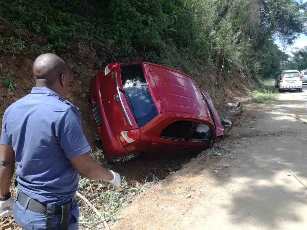 Umzinto cash-in-transit suspects crash car while fleeing