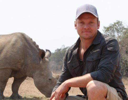 Rugby star Joe Pietersen cycles for rhino conservation