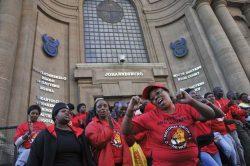 NUM members on strike at PPC Cement in Pretoria