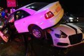 Photos: Audi mounts other Audi in freak crash