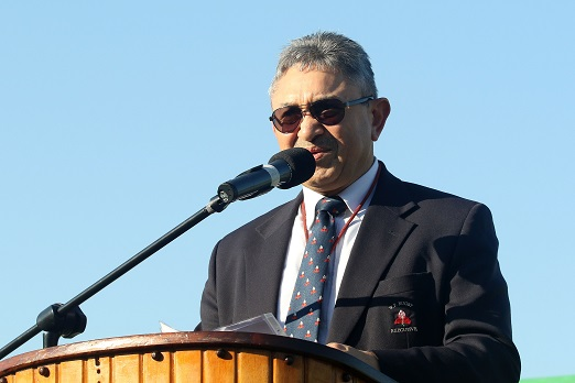WPRU Vice President Zelt Marais during the Opening Ceremony on day 1 the U/16 Coca-Cola Grant Khomo Week at Paarl Gimnasium on July 04, 2016 in Paarl, South Africa. (Photo by Shaun Roy/Gallo Images)