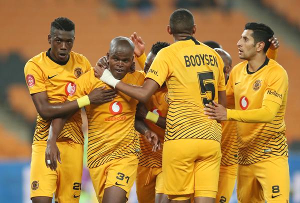 Willard Katsande of Kaizer Chiefs (31) celebrates goal with teammates (Muzi Ntombela/BackpagePix)