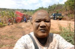 Man stuns social media with bus accident selfies
