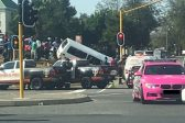Taxi crash causes major delays in Fourways