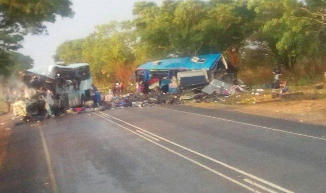 Head on collision between 2 buses kills 47 in Zimbabwe