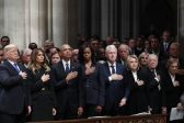 Trump and Clinton refuse to greet each other at Bush funeral