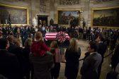 Late US president Bush lies in state in Washington