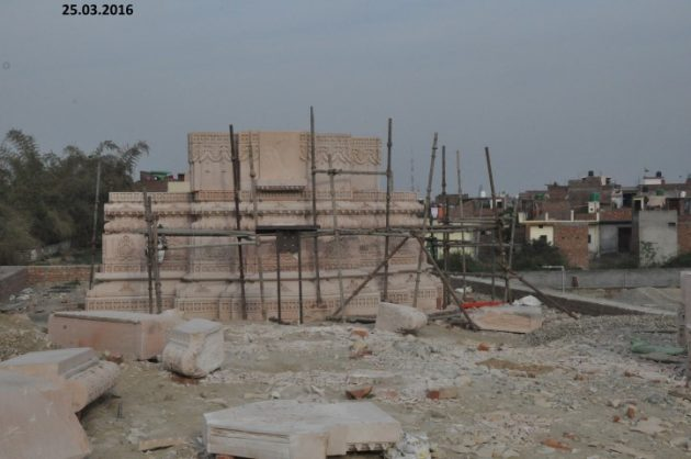 The Gupta-funded Shivadham temple in mid construction. Picture: (http://adinathweb.com)