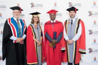 Dikgang Moseneke awarded honorary doctorate by UP