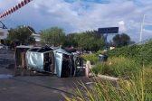 Man killed, two injured as bakkie plunges down embankment