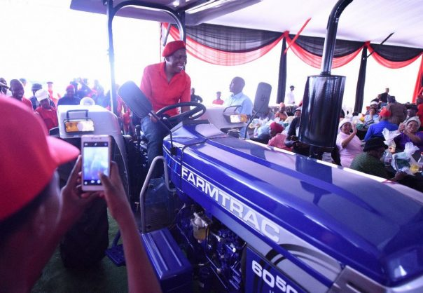 Malema gives Seshego community a tractor 'to work the land'