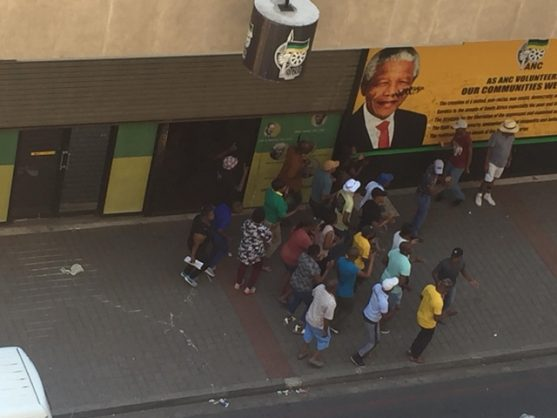 North West ANC members dance and sing outside Luthuli House, Johannesburg, 12 December 2018. Picture: ANA