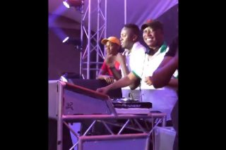WATCH: Malema pumps music on the decks while Cassper works the dance floor