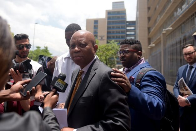 Mayor Herman Mashaba is pictured leaving the Johannesburg Central Police station, 10 December 2018. Picture: Tracy Lee Stark