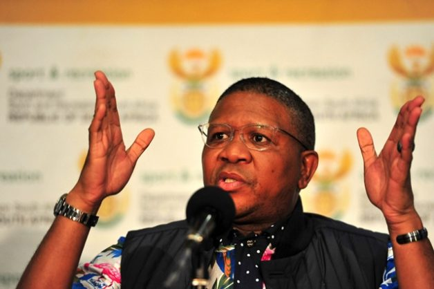 Former Sports Minister, Fikile Mbalula briefs media regarding transformation in Rugby at SASCOC house, 5 November 2015. Picture: Neil McCartney
