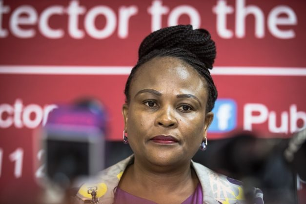Public Protector Busisiwe Mkhwebane is seen during a press briefing at the Public Protector's offices in Hatfield, 19 December 2018, Pretoria. Picture: Jacques Nelles