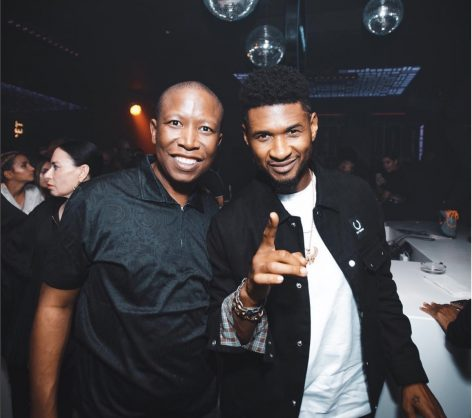EFF leader Julius Malema with US superstar Usher.