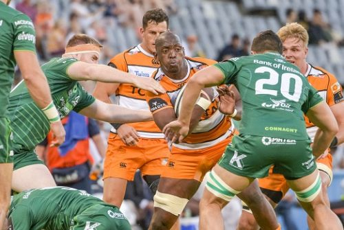Abongile Nonkontwana of Toyota Cheetahs during the Guinness Pro14 match between Toyota Cheetahs and Connacht at Toyota Stadium December 01, 2018 in Bloemfontein, South Africa. (Photo by Frikkie Kapp/Gallo Images)