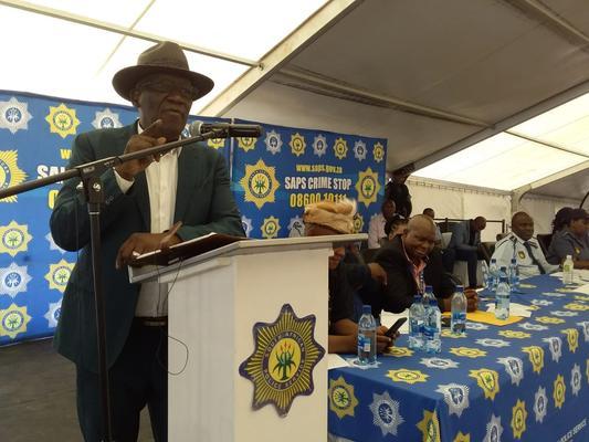 Police minister Bheki Cele in Port Elizabeth. Picture: SAPS