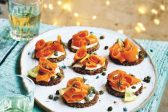 Recipe: Faux smoked salmon with cream cheese canapes