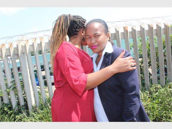 W/O Bongiwe Zondo comforts rape victim Fundi Dlungwane.